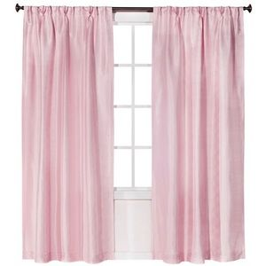SIMPLY SHABBY CHIC Faux Silk Pleat Curtain Panels